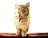 Decorative Art Solid Brass Owl FUN Figurine Sculpture Gift Ideas FOR Night Owls