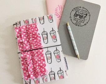floral coffee cups MPruffledori  -- fauxdori traveler's notebook