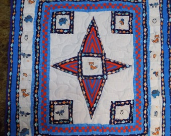 ON SALE Crib Quilt Handmade