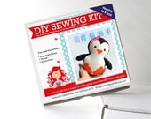 Penguin Sewing Kit, Felt Kids' Crafts, Felt Sewing Kit in a Box, 8+ years old craft, No need sewing machine, READY TO SHIP A818