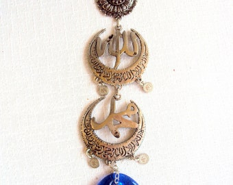 Evil Eye Amulet For Protection İslamic Allah Wall Hanging Charm Home Blessing Gift For Her Free Shipment