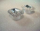 Rhinestone Ear Plugs / Glamorous Hollywood / 1-18mm sizes rhinestone gauges / wedding plugs bridal ear plugs earrings studs