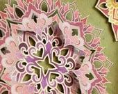 "Mandala ""Ode to Copernicus"" - Illuminated 3-D Paper Sculpture Original Artwork"