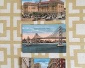 Set of (3) Vintage Oakland & San Francisco Postcards by Gabriel Moulin