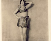 VAUDEVILLE DANCER SINGER Gladys James In Risque Two Piece Roaring 20s Art Deco Outfit 8 x 10 Photo circa 1920