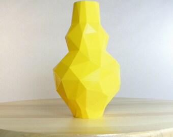 Lemon Yellow Vase Bright Banana Yellow Decor Vase