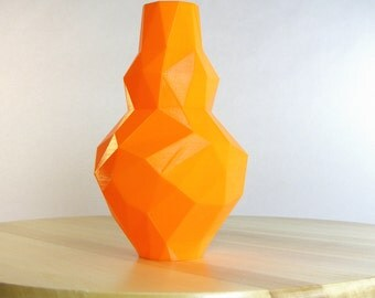 electric orange vase 3d printed tangerine vase orange decor