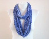 Chain infinity Scarf,Crochet Scarf,Loop Scarf,Circle Scarf