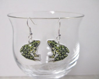 FROG EARRINGS Dangle Charms