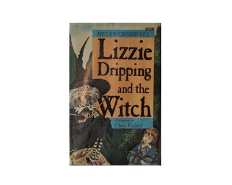 Lizzie Dripping and the Witch. 1991 1st Edition with Dust Jacket. Vintage BBC Hardback. Helen Cresswell. Book. Library. Chris Riddell.