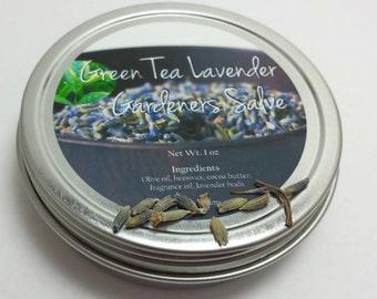 Green Tea Lavender Gardeners Salve