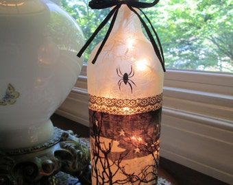 halloween,halloween light,halloween decorations,halloween lamp,wine bottle lamp,wine bottle lights,lighted wine bottles,lamp,lighted bottles