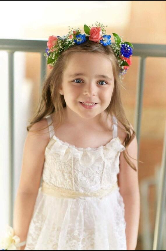 Flower Girl Custom Tea Party Dress-Ruffled layers, lace, birthday, prairie, wedding, burlap, handmade, boots, farm, cowboy, cowgirl, love