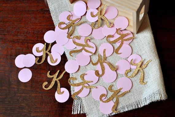 Fun monogrammed confetti