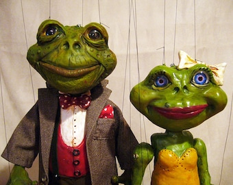 Made to Order - Mr. Toad Marionette and Ms. Frog Marionettes
