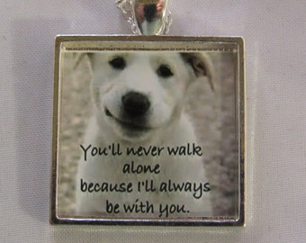 Youll Never Walk Alone Puppy Necklace