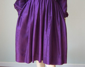 1950s Claire McCardell by Townley Silk Dress with Pintucks and Jabot Tie // Dressy Day Wear with Casual Bohemian Vibe