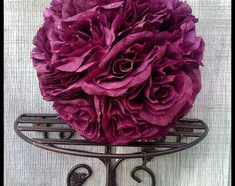 Ready to ship SET of Lg Open purple Rose Pomanders