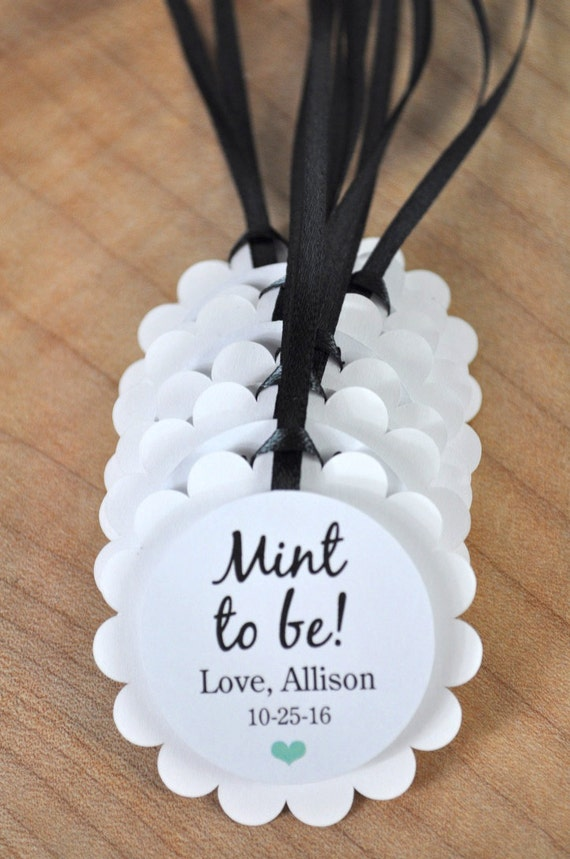 Mint To Be Wedding Favor Tags Tic Tac Labels Bridal Shower Favors