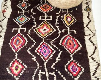 "Vintage Moroccan Wool Rug - AZILAL ""Tribal"""