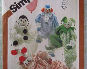 Decorative Craft Clowns Transfers Included Vintage 1980's Simplicity Pattern 5259 UNCUT