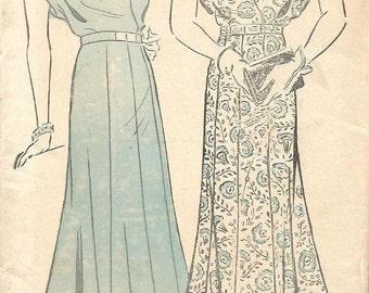 1930s Plus Size Surplice Dress Pattern Shirred Shoulders V Neckline Kimono Sleeves New York 778 Bust 42 Unused FF  Vintage Sewing Pattern