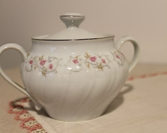 Rose Yamaka Sugar Bowl