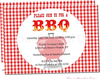 BBQ Party Invitation | BBQ Party Invitations | Barbecue Party Invitation | Cook Out Party Invites | Grill Out Party Invitations  #102