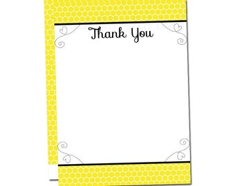 Mommy-to-BEE Thank You Cards   Bee Baby Shower Stationery   Bee Baby Shower Thank You Card   Bee Thank You Card #206
