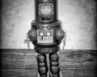 Robot Print - Boys Room Decor - Robot Art - Robot Photo Print