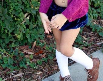 Toddler Knee Socks, Girls Knee Socks, Knee Highs, White Knee Socks