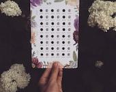 Lady Bits lunar calendar - full & new moons through 2018 FREE US SHIPPING
