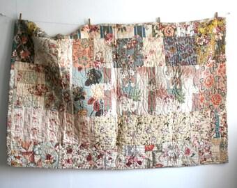 Floral Antique Quilt