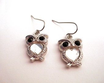 Owl Earrings, Owl Jewelry, Owl Jewelry Set, Animal Jewelry, Owl Necklace