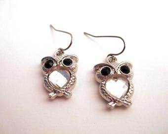 SUPER SALE Owl Earrings, Owl Jewelry, Owl Jewelry Set, Animal Jewelry, Owl Necklace