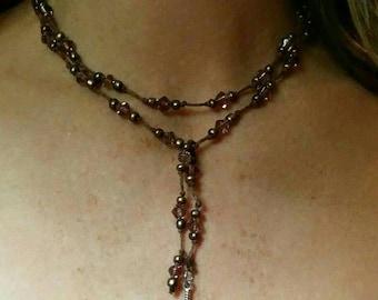 The Feather Wrap Hemp Beaded Necklace or Bracelet