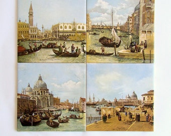 Ceramic Tiles, Canaletto Paintings on Tile, Venice Italy, Canal Grande, Italian Tiles, Grand Canal, Venetian Tiles,