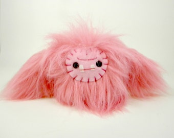 Plush Yeti Monster stuffed animal Bubblegum Pink Valentine's Day gift children's toy big foot ape monkey kawaii plushie fluffy monster