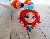 Ariel pendant necklace, Disney Princess necklace, Ariel charm, Ariel necklace, Little Mermaid, Under the sea, child's necklace, birthday