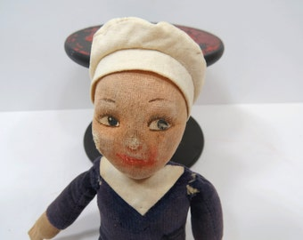 Vintage Sailor Doll by Norah Welling Jollyboy British Navy Doll Hand Painted Face