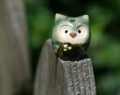 Army Green Pygmy Clay Owls: Harry Potter Inspired Owlery