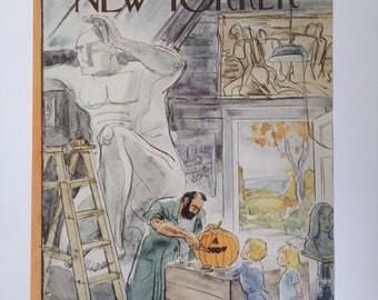 Vintage New Yorker Magazine Cover, 11/1/1947