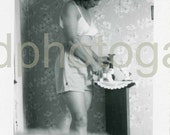 Vintage Photo, Woman in White Bra and Shorts, Black & White Photo, Found Photo, Old Photo, Snapshot, Vernacular Photo   Etsy001.jpg