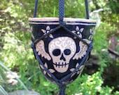 Winged Skull Hanging Planter