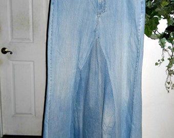 Maxi jean skirt plus size upcycled Renaissance Denim Couture fairy goddess mermaid belle bohémienne Made to Order