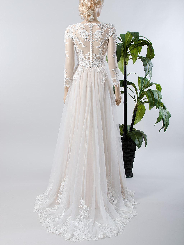 lace wedding dress long sleeve wedding dress bridal gown