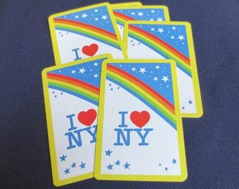 6 I Love New York Rainbow Vintage Playing Cards
