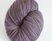 SALE! Grey hand-dyed sport weight yarn   Round Table Yarns Galahad in Quest #2   non-superwash merino   dark grey with purple