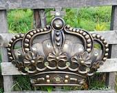 Huge Gold Crown Wall Decor Nursery Wall Decor Crib Crown Canopy Wall Decor Ornate Crown Gold Fleur de Lis Nursery Shabby Chic Princess Crown