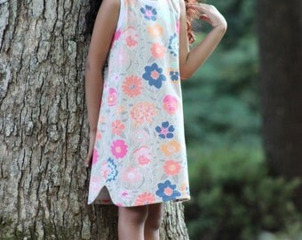 Dogwood Dress PDF pattern sizes 12m-8